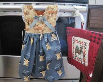 Deer Kitchen Towel Dress
