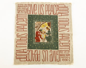 Vintage Christmas Wall Hanging Robert Darr Wert Textile Art Midcentury Modernist