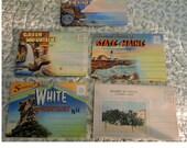 5 Souvenir Postcard Folders -New England States - Maine - Acadia - Vermont- New Hampshire