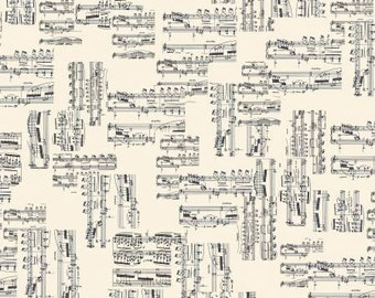 The Music in Me from Kanvas Sheet Music in cream  YES!! I Fabric is always cut continuously, shipping combined and refunds are given