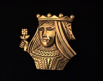 Vintage CORO Queen Brooch