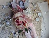 Valentine ornament - pretty pink angel cone - NO008