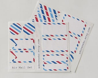 Airmail Stickers Planner Gift Packaging Air Mail
