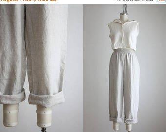 25% SALE woven linen trousers