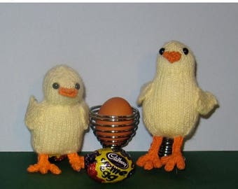50% OFF SALE Instant Digital Easter knitting pattern-Chick Creme Egg Cover and Egg Cosy (Cozy) pdf download knitting pattern