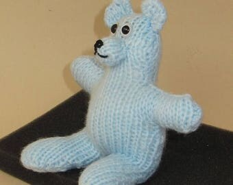 50% OFF SALE Instant Digital PDF Download Knitting Pattern - Two Hour Teddy Bear