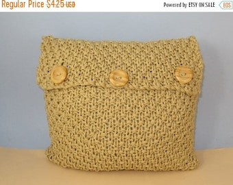 50% OFF SALE Instant Digital File pdf download knitting pattern - Superfast Chunky Double Moss Stitch Cushion Cover