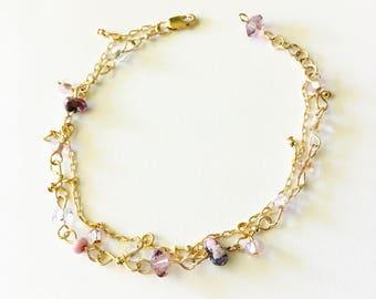 Delicate Gold Beaded Bracelet