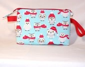 Owls in Scarves Tall Mia Bag with Owl Bead