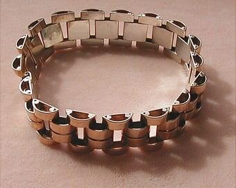 Sterling Harry S Bick HSB Machine Age Bracelet