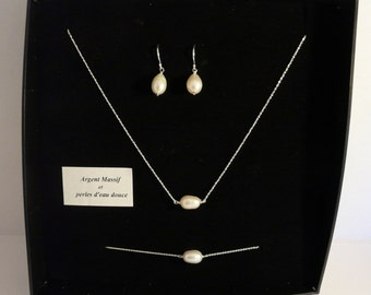 Sterling Silver and Freshwater Pearl Set