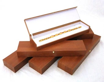 Oak Colored Necklace-Watch-Bracelet Gift Boxes With Magnetic Closure 6 Pc