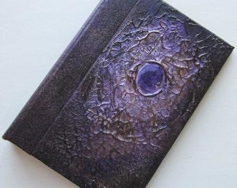 Refillable Journal Handmade black gold violet Jewel Original 6x4