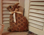 Primitive Antique CWE Quilt Rabbit ~ Primitive Folk Art