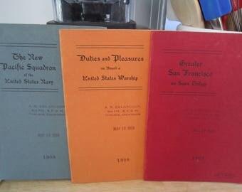 Edward Mitchell 1908 Photomechanical Print Portfolio Booklets set of 3
