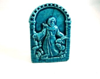RESERVED TERRA  St. Francis of Assisi Altar Piece Handmade Pottery