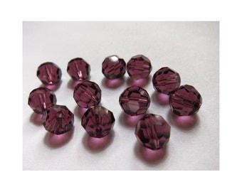 5mm Amethyst Swarovski Round Beads - (56)