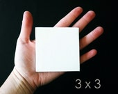 SALE 3x3 set of 10 MINI Stretched CANVAS - tiny square canvases - miniature white blank canvas - new art supply - painting supply - diy art