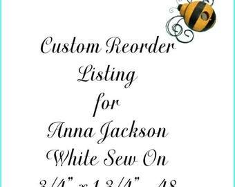Custom Reorder Listing for Anna Jackson