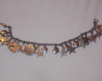 Vintage Sterling Beta Sigma Phi Sorority Charm Bracelet