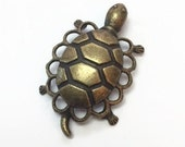 Turtle Charms, Bronze Turtles, Destash
