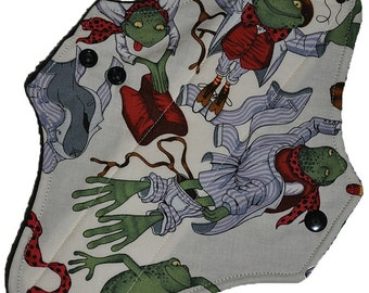 Moderate Core- Mr Toad Gets Dressed Reusable Cloth Maxi Pad- 10 Inches (25.5 cm)
