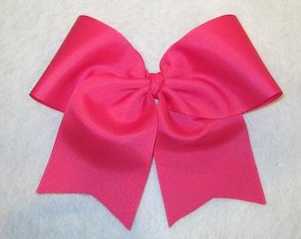 Cheer Bows, Pink Cheer Bow, Girls Cheer Bows, Softball Bows, Team Bows, Dance Bows, Cheerleader Hair Bows, 7 inch bows, Practice Cheer Bows
