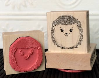 Herbert Hedgehog rubber stamp from oldislandstamps