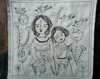 Art in stitches- we belong to nature