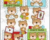 Fluffington Game Night Clipart Collection - Immediate Download