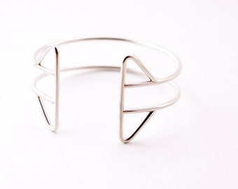 Verve cuff - sterling silver bracelet