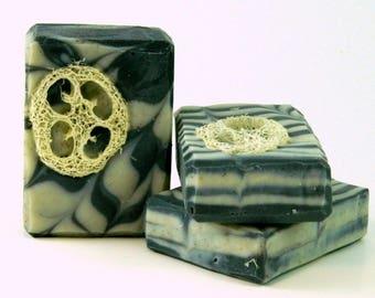 Loofah Foot Scrub Soap / Peppermint Soap / Exfoliating Soap