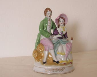 Post World War II, Occupied Japan Figurine, Man and Woman, Excellent Condition, 6 in. Tall