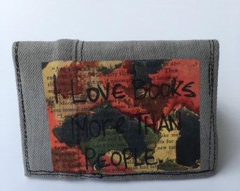 Bifold wallet, slim wallet, credit card holder, small bifold wallet, handmade wallet, recycled wallets