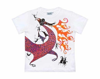 Jill and Dragon Childrens t-shirt