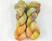 Hand Dyed Yarn, FAVE sock weight yarn, SUN DRESS