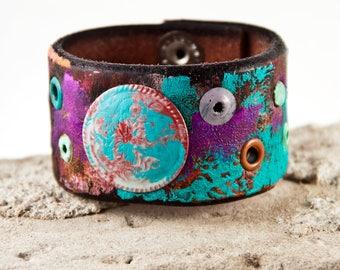 Turquoise Jewelry - Wrist Cuff, Boho Jewelry, Cuff Bracelets Women
