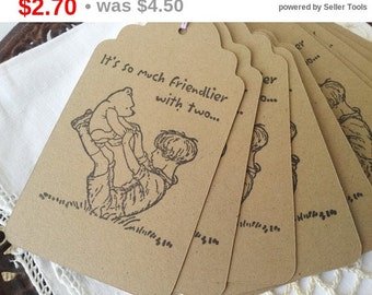 SALE Winnie the Pooh Christopher Robin Friendship Tags Set of 6
