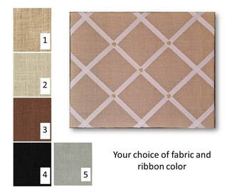 Burlap French Memo Board 20 x 24 -  Bulletin Board - Memory Board, Fabric Board, Burlap Memo board, Ribbon board, Wedding Memory board
