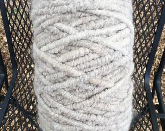 Suri Alpaca Rug Yarn, Light Silver Grey, Super Bulky, Alpaca Core