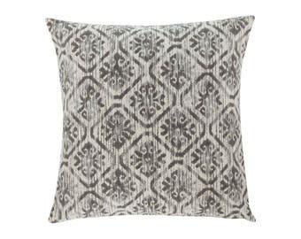 GREY Brown Pillow Cover.Decorator Pillow Cover.Home Decor.Large Print. Toba Graphite. Cushions. Cushion.Pillow. Premier Prints