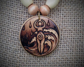 Spirit of Water Pendant with Accent Beads
