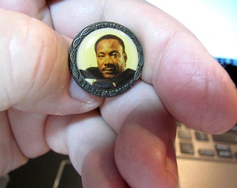 1980's Dr. Martin Luther King Brass Commemorative Pin