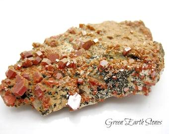 Premium Vanadinite Cluster, #V12 Collectors, Large, Morocco, Crystals, Metaphysical, Rock Hound
