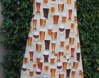BBQ style apron, beer apron