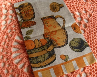 Vintage Unused Linen Kitchen Towel