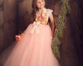 25% off storewide sale Summer Peach Tutu Dress
