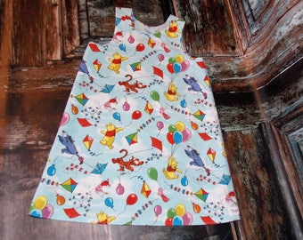 Winnie the Pooh Bear Aline Dress Sz 2T 3T 4T 5 6 7 8 10 Disney Birthday Tigger Eeyore Piglet