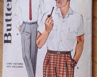 Vintage Butterick 2234 Mens Trousers and Bermuda Shorts