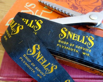Vintage clothing labels Snell's Shop of Service Plymouth Wisconsin Clothing shop labels Advertising labels Vintage clothing tags Tailoring